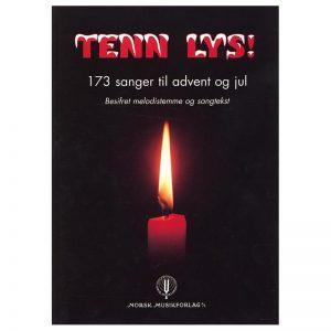 Tenn lys – 173 sanger til advent og jul – besifret melodistemme og sangtekst