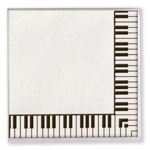 Servietter med keyboardmotiv